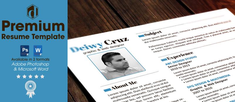 Free Premium Creative Resume Template Decruz Design