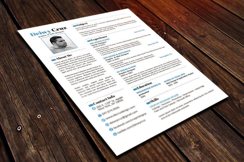 Free premium resume template