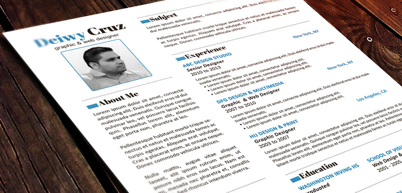 free premium creative resume template decruz design - Free Creative Resume Templates Word