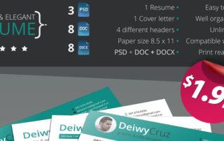 Classic and elegant premium resume template