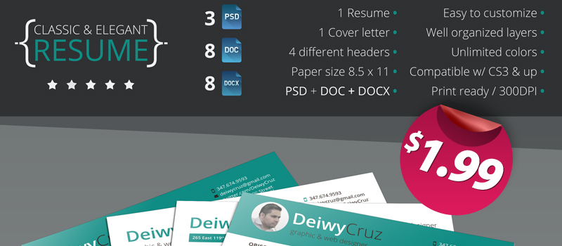 Classic and elegant premium resume template